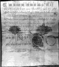 Bild von der Ersterwähnungsurkunde Kaufungen
