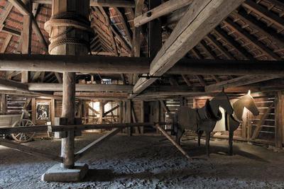 Bild des Pferdegöbels im Bergwerkmuseum Rossgang