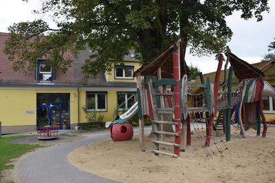Blick auf die Kindertagesstätte Zur Schönen Aussicht