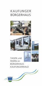 Titelseite Flyer Buergerhaus Kaufungen 2016
