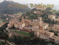 Luftaufnahme der Partnerstadt Bertinoro, Italien; in der Bildmitte das Rathaus